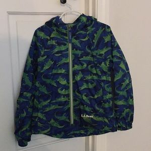 LL Bean alligator rain jacket